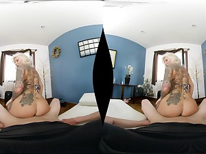 Tattooed beauteous girl Jarushka Ross fucks with a friend in POV